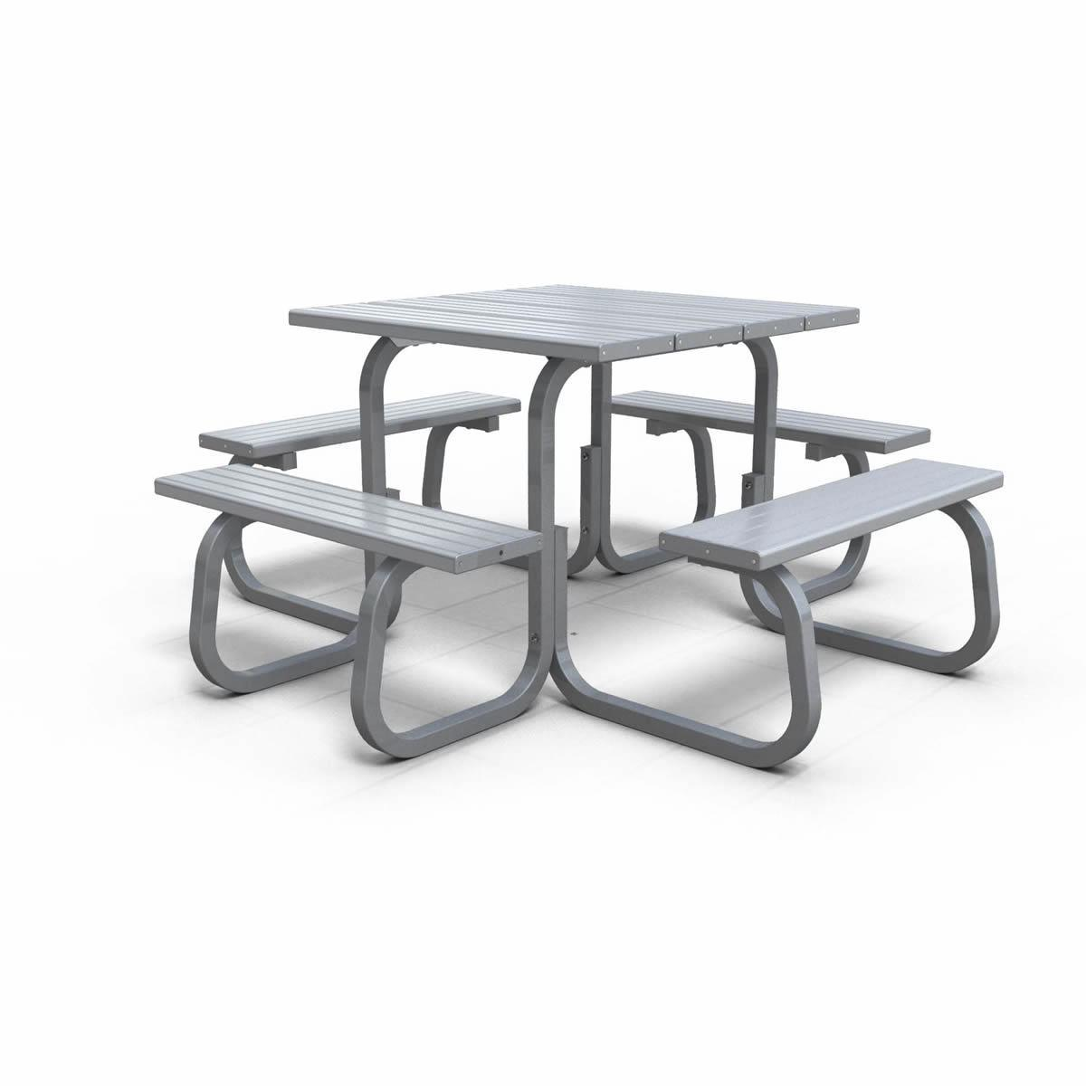 metro 8 seat square table urban effects