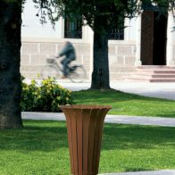 Tulip Litter Bin - Corten Steel from Urban Effects