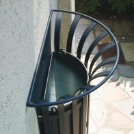 Lys Parete Semi-Cylindrical Litter Bin from Urban Effects