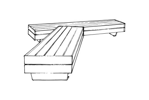 Liffiton Wide Bench with Notch