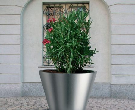 Pitocca planter-stainless steel