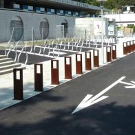 Word Corten Bollard / Bike Stand from Urban Effects