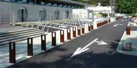Word Corten Bollard / Bike Stand