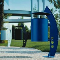 West Iron Litter Bin from Urban Effects