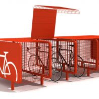 Bike Box Bike Rack from Urban Effects