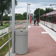 Rainless Litter Bin - Colour Powdercoated from Urban Effects