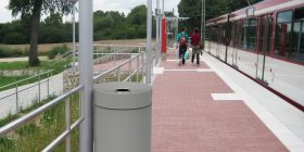 Rainless Litter Bin - Colour Powdercoated