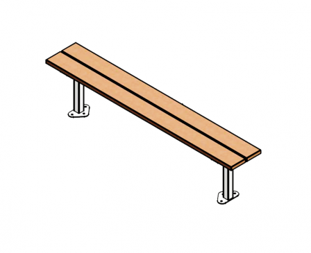 Woodland Bench (pine) - with correct footings