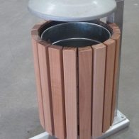 Colonial Tilt Bin - Timber version from Urban Effects