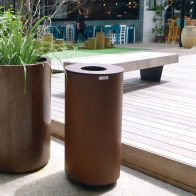 Spencer Bin Corten - Round model from Urban Effects