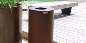 Spencer Bin Corten - Round model