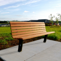 Citistyle Timber Seat from Urban Effects
