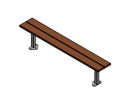 Woodland hardwood Bench - with correct footings