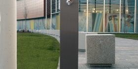 Fuente-R (Rectangular) Drinking Fountain - Powdercoated
