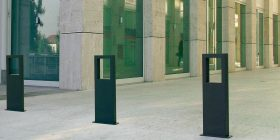 Word Powdercoated Bollard / Bike Stand