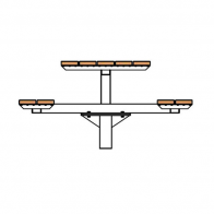 Woodlands Classic Pedestal Table Setting from Urban Effects