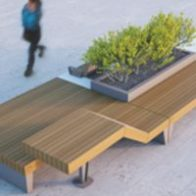 Isolaurbana seating and planters from Urban Effects