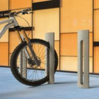 Spring P bike racks and/or pedestrian bollard from Urban Effects