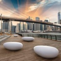 Stone free shape seat from Urban Effects