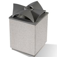 Topazio recycling litter bin