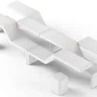 Twin modular bench