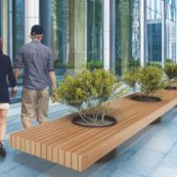 Victor bench with planter from Urban Effects
